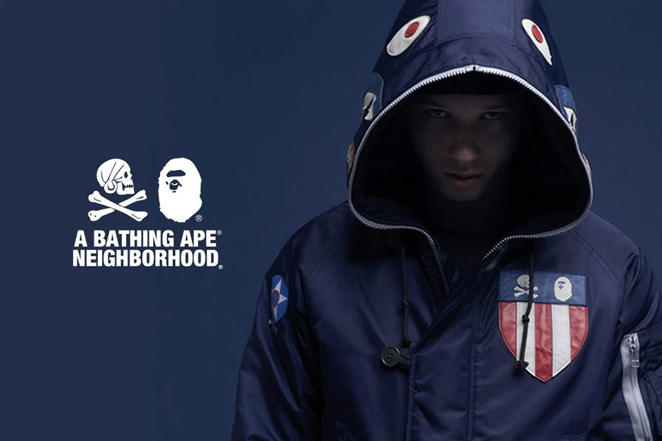 Voici le lookbook complet de la collection BAPE x NEIGHBORHOOD