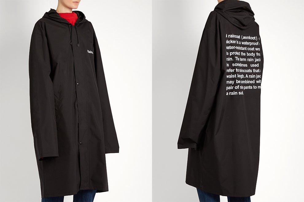 Vetements sort de nouveau son «Official Fake» Raincoat