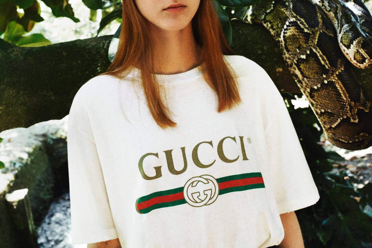 Gucci sort un nouveau t-shirt avec un logo aux inspirations vintage