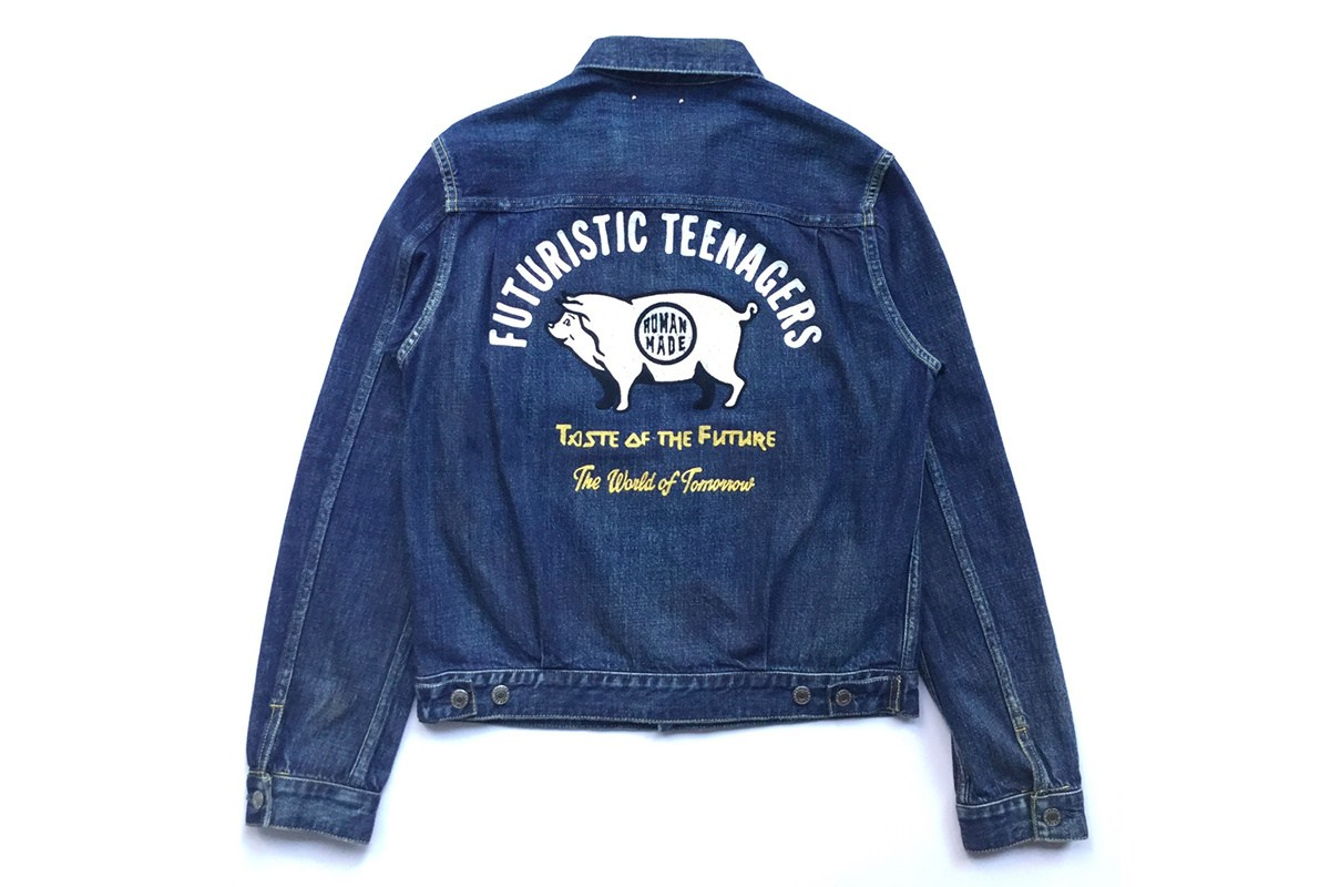 HUMAN MADE collabore avec MINEDENIM sur une veste denim retro