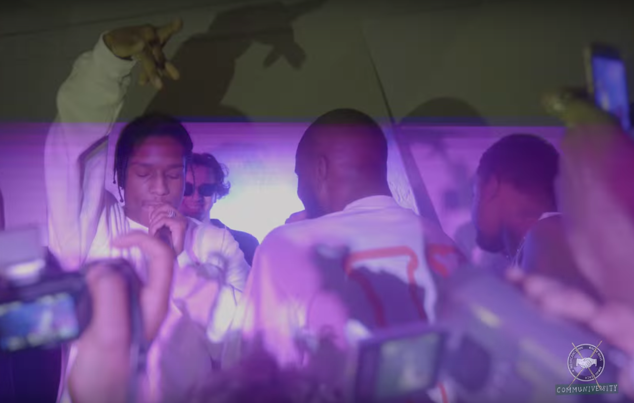 Grosse performance du A$AP MOB pendant l'Art Basel Miami