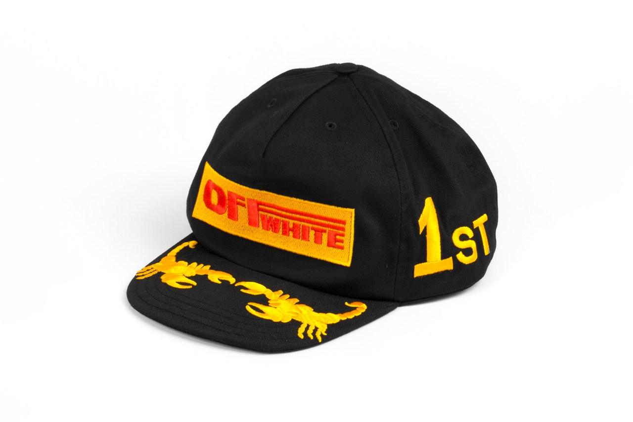 Quand OFF-WHITE développe des casquettes s'inspirant des courses automobiles