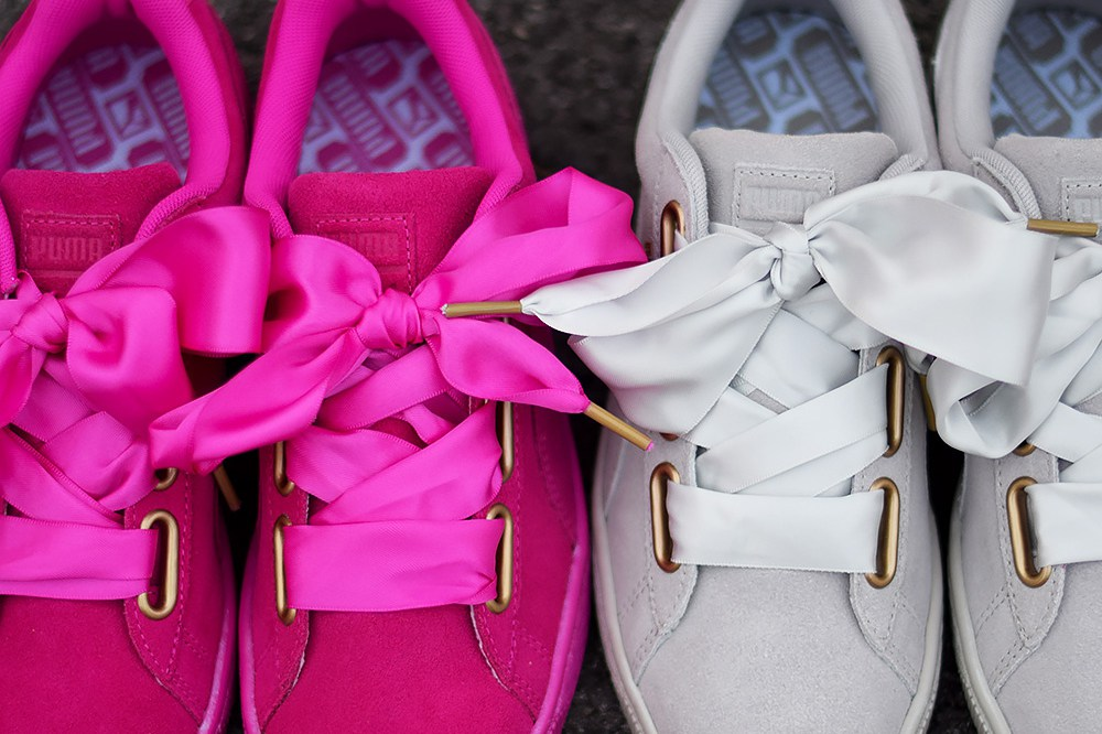Puma Suede Grise Heart