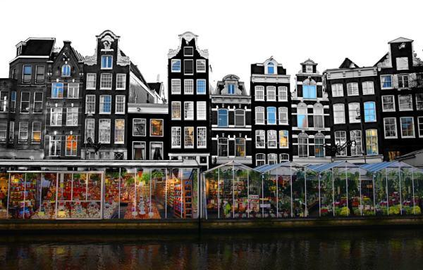 Bloemenmarkt-mercato-fiori-galleggiante-vista-canale-Amsterdam