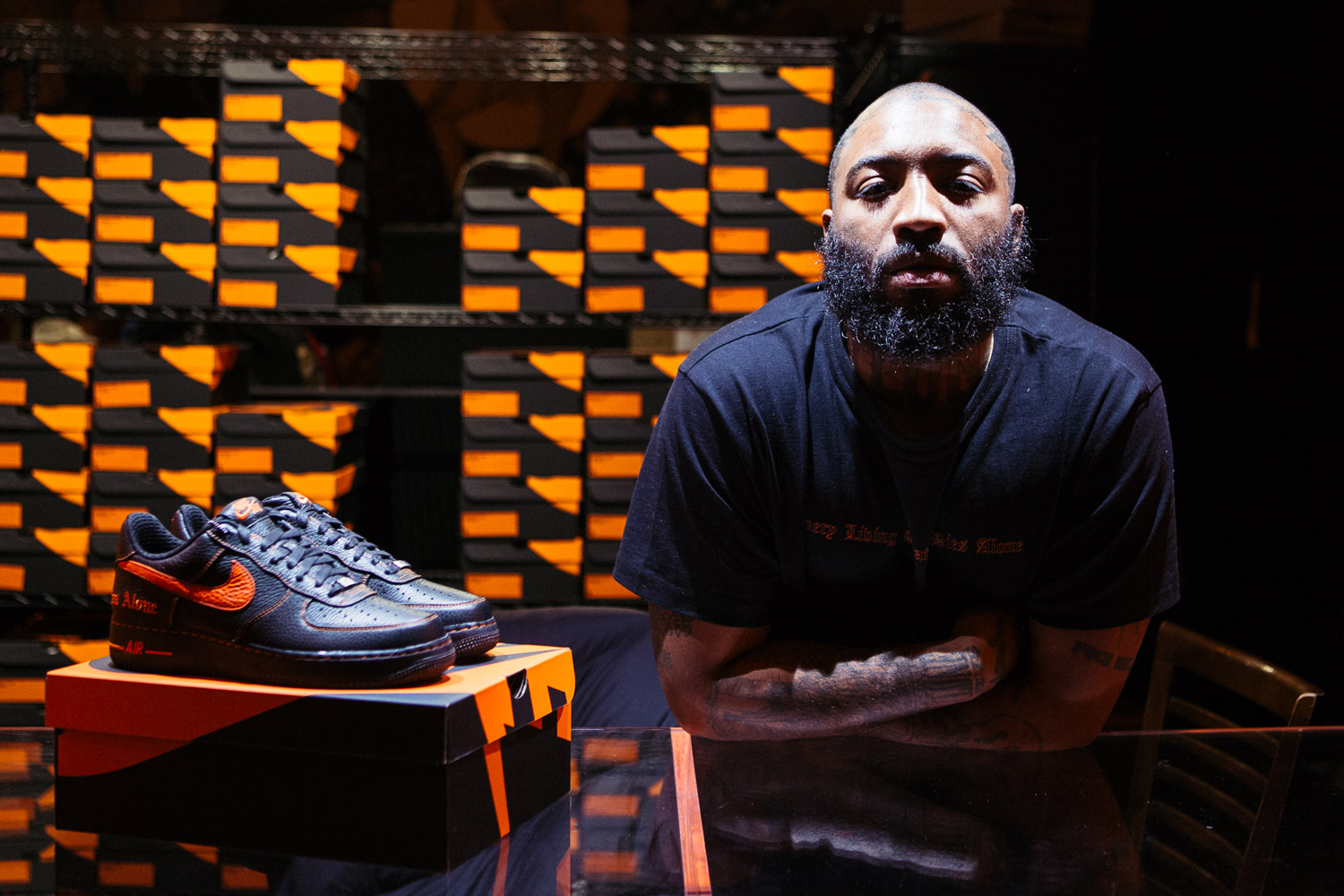 Voici le Nike AF1 x VLONE Harlem pop-up store