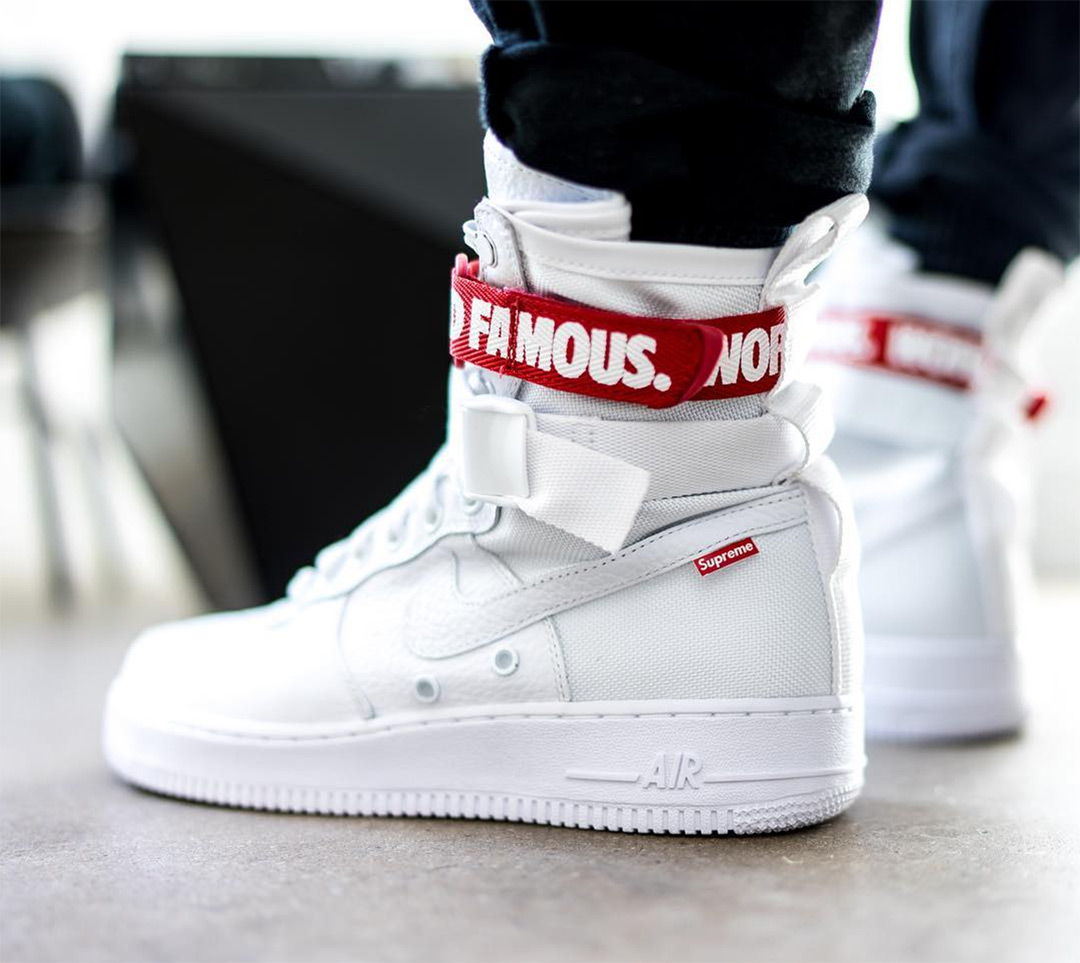 La Supreme x Nike Special Force Air Force 1 customisée
