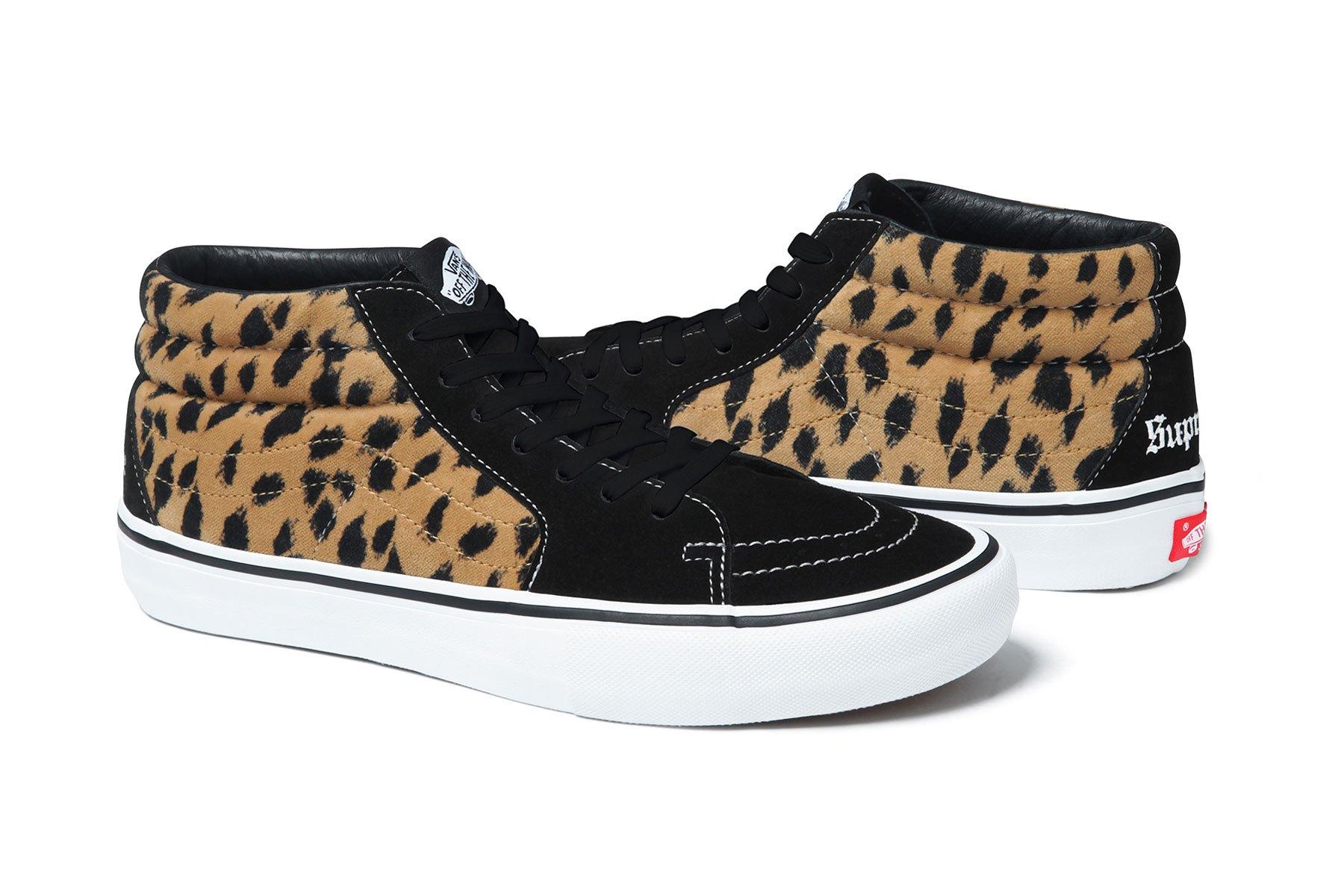 supreme vans 2017 spring summer leopard black 6