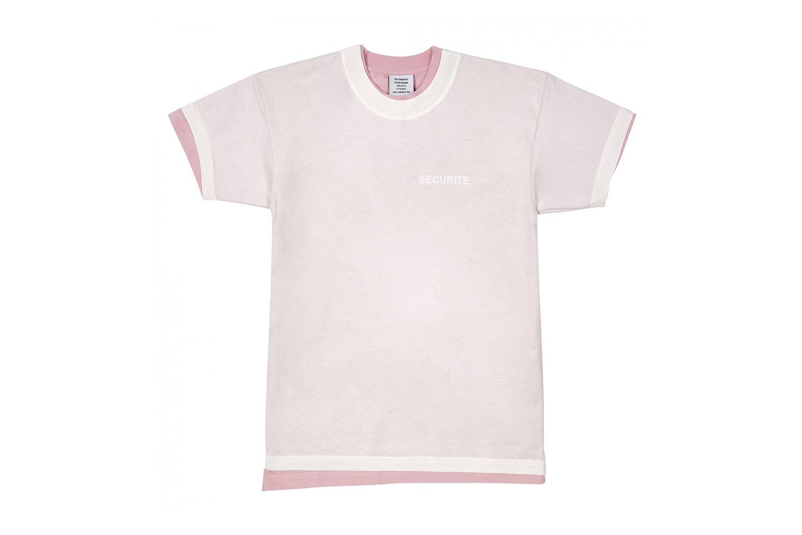 Vetements lance de nouveaux t-shirts «Securite»