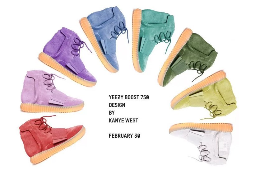 Voici le pack YEEZY BOOST 750 Rainbow Fantasy