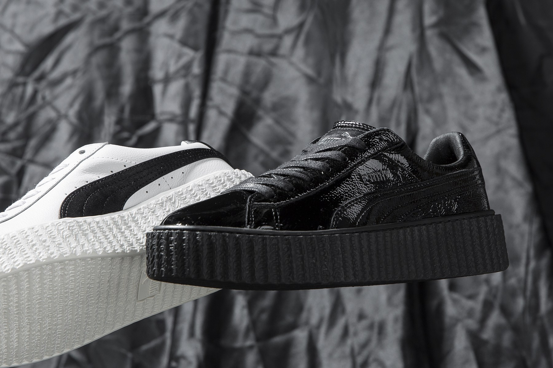 Un premier aperçu de la Fenty PUMA Rihanna Crinkled Leather Creeper