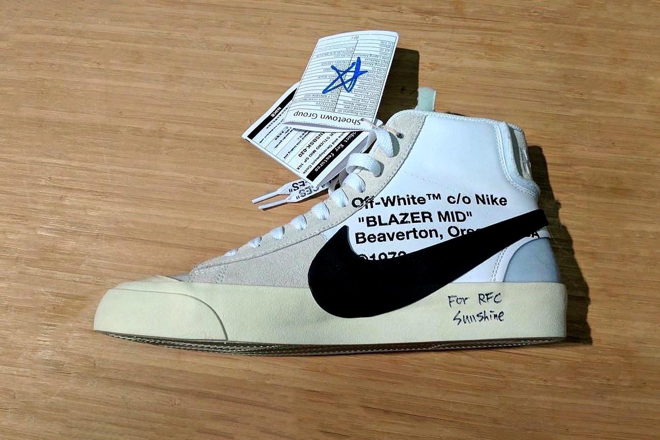 Voici un nouvel aperçu de l'OFF-WHITE x Nike Blazer Mid