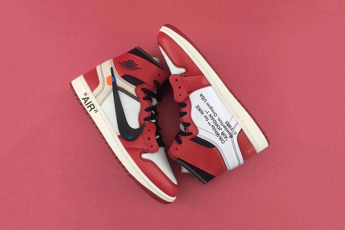 Zoom sur la Nike Air Jordan 1 x OFF-White imaginée par Virgil Abloh