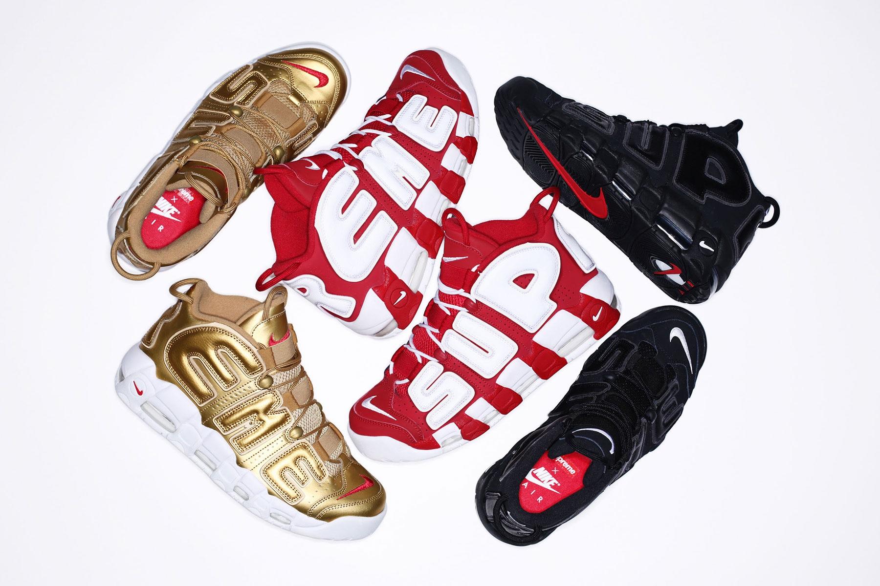 Supreme et Nike dévoilent des informations officielles concernant leurs Air More Uptempo