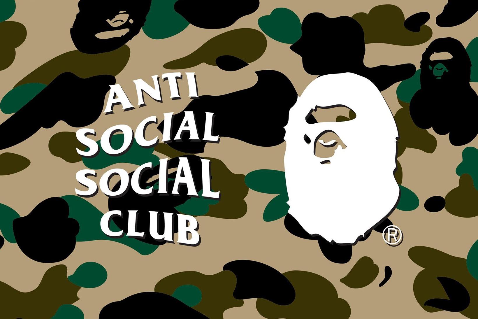 BAPE and Anti Social Social Club dévoilent une prochaine union