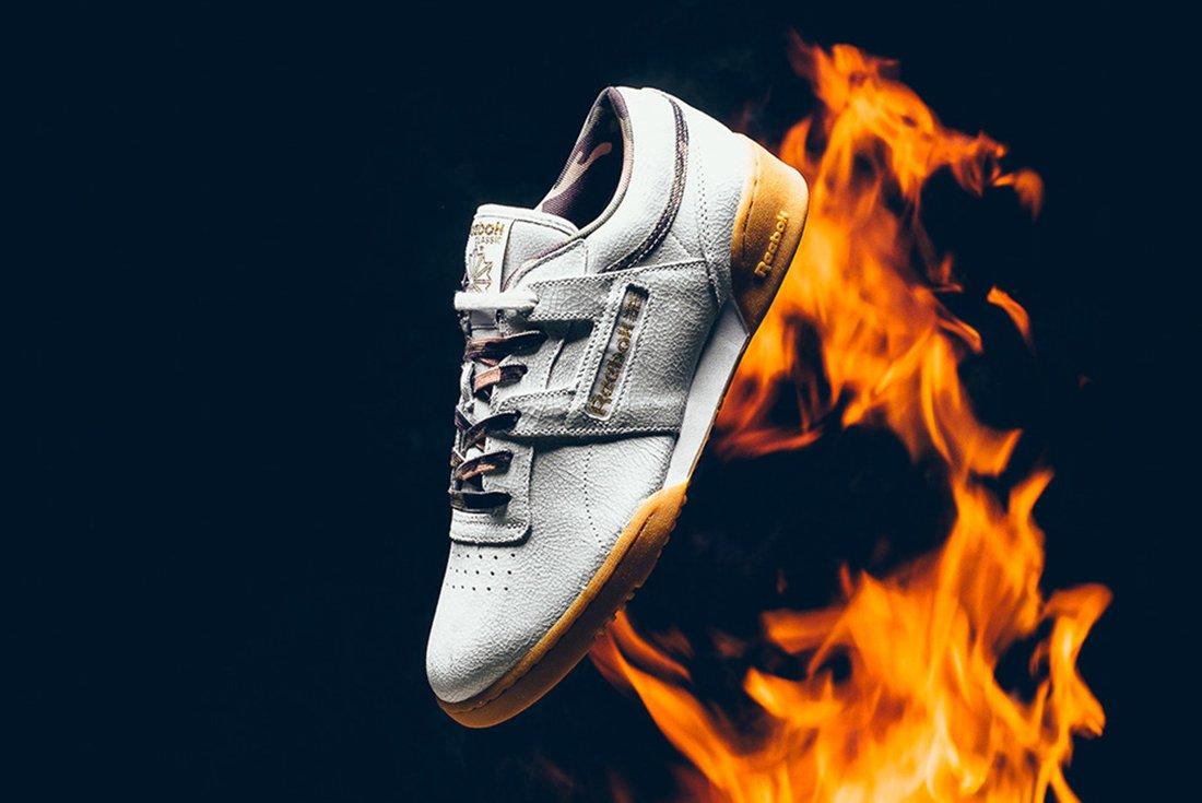 La Sneaker Politics x Humidity x Reebok Workout Low en vente