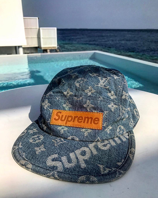 Kim Jones offre un zoom sur la casquette Louis Vuitton X SUPREME pour Pâques