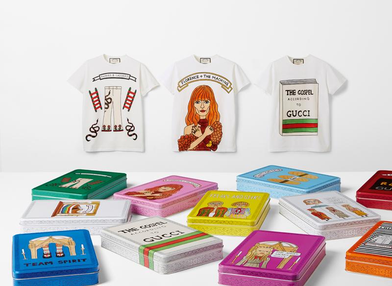 Gucci s'allie à la dessinatrice Angelica Hicks pour une édition de t-shirts limitée