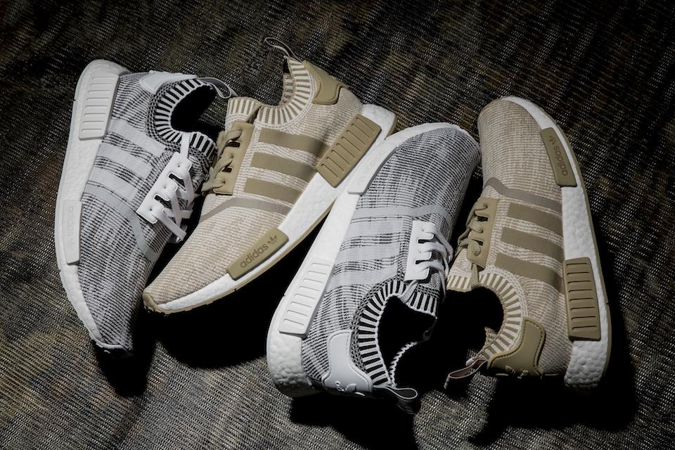 La Adidas NMD R1 Primeknit arrive en «Khaki et «White»