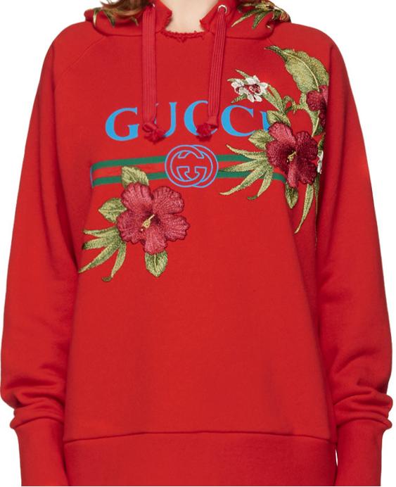 Gucci balance un hoodie floral pour ce printemps
