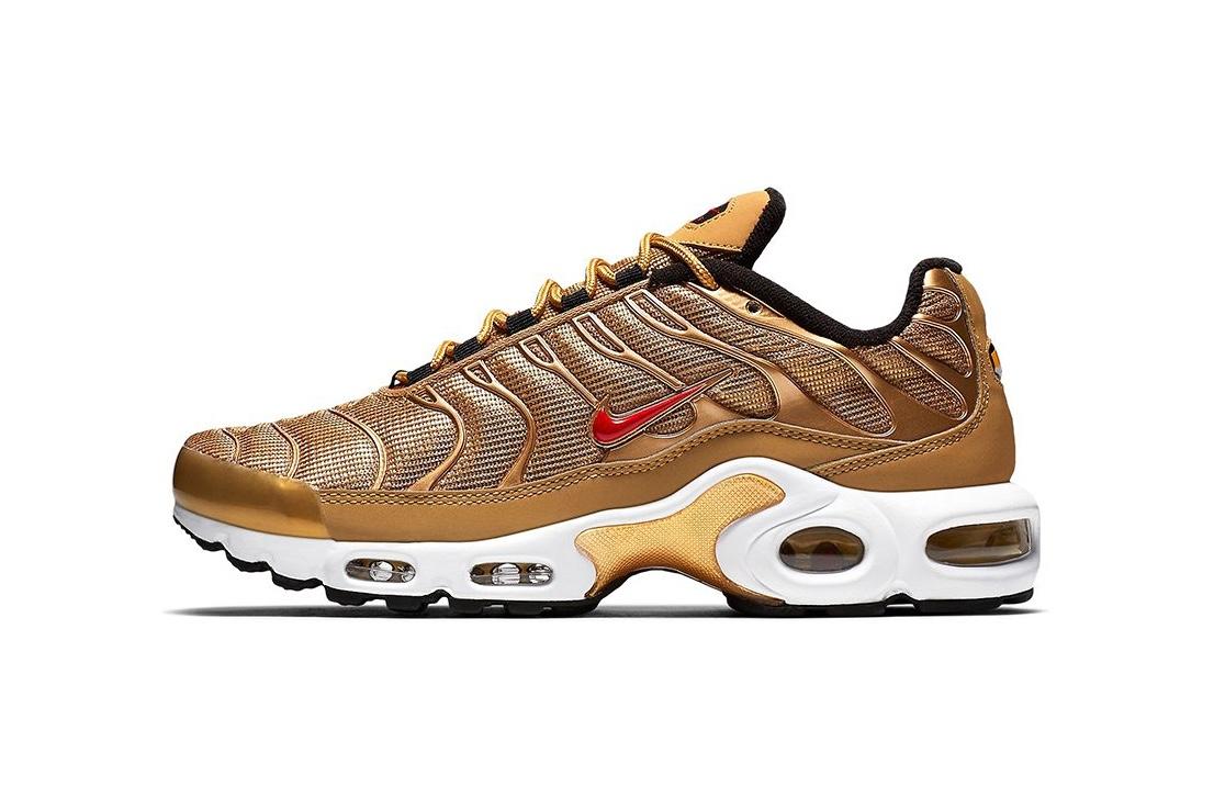 Nike passe en mode bling-bling avec l'Air Max Plus version «Metallic Gold»