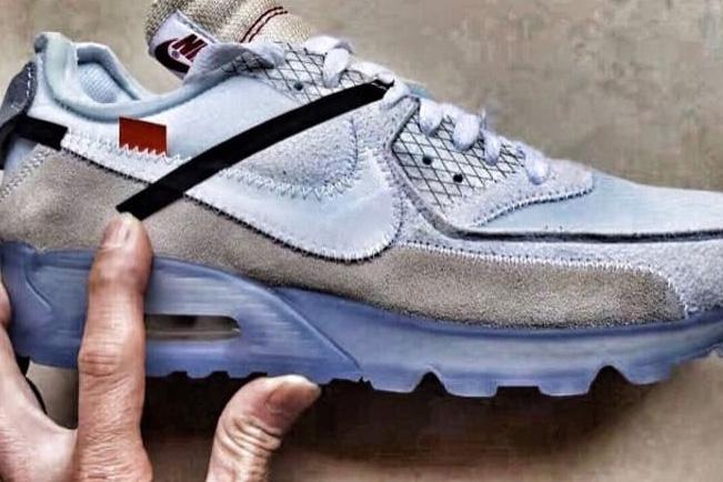 OFF-White X Nike : La Air Max 90 «Ice» vient de fuiter !