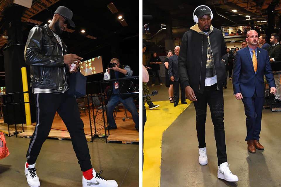 new cheap huge inventory new appearance Kevin Durant et Lebron James vus avec une itération Nike X ...