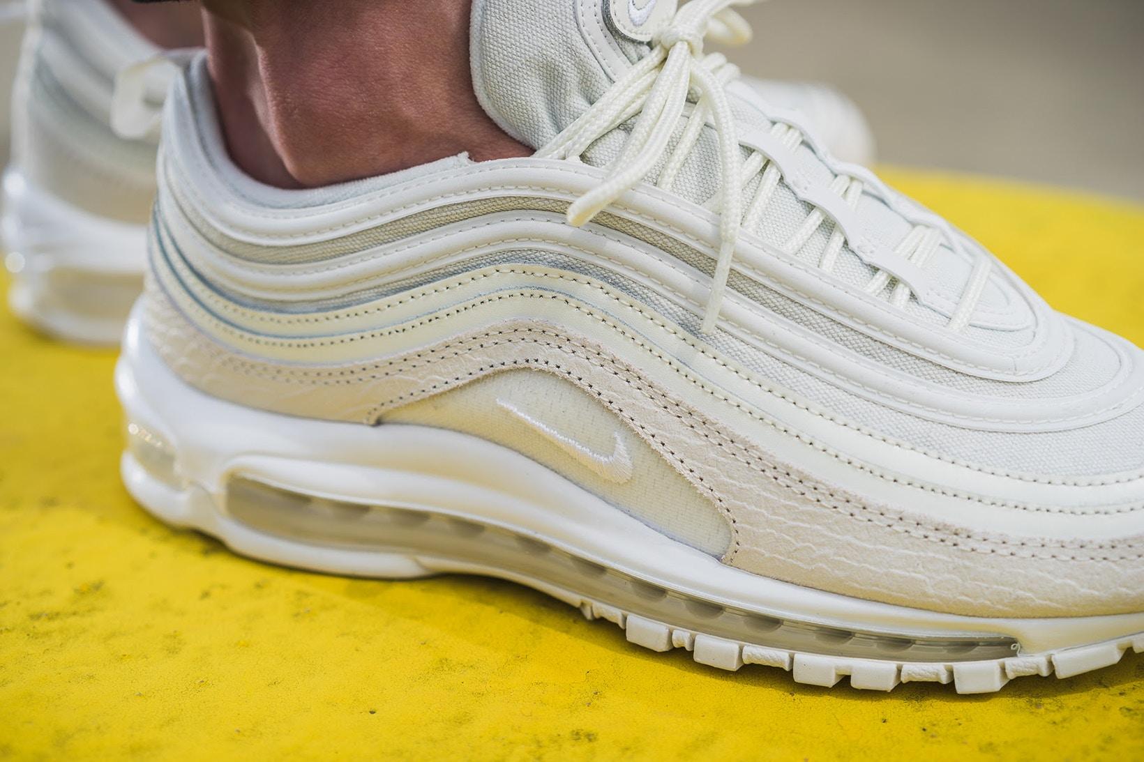 Admire de plus près la nouvelle Nike Air Max 97 White Snakeskin