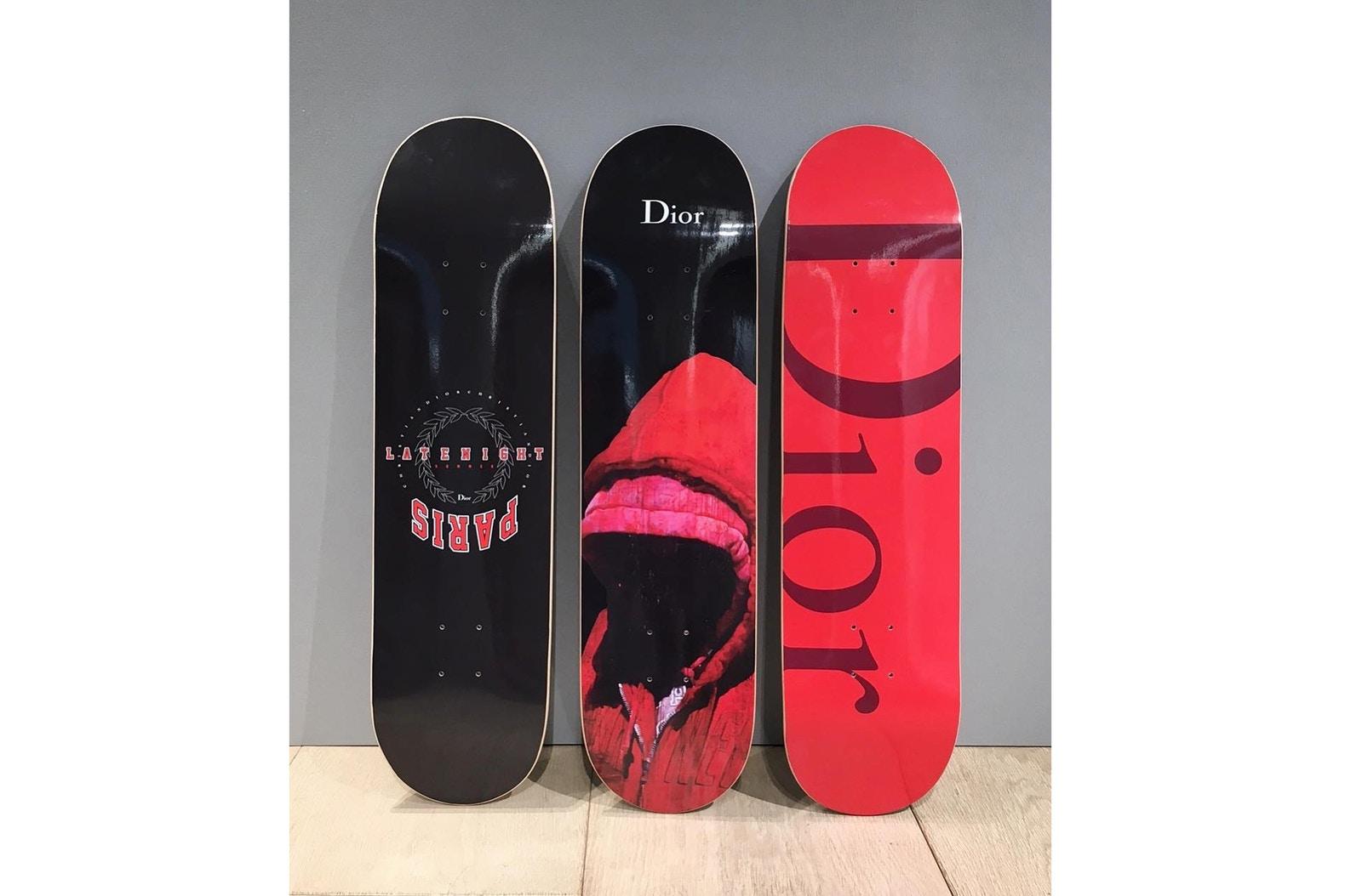 Les nouveaux Skateboards de Dior dévoilés par Kris Van Assche