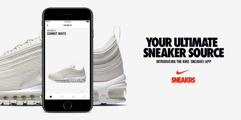 Nike sort une  nouvelle application : NIKE  SNEAKRS App