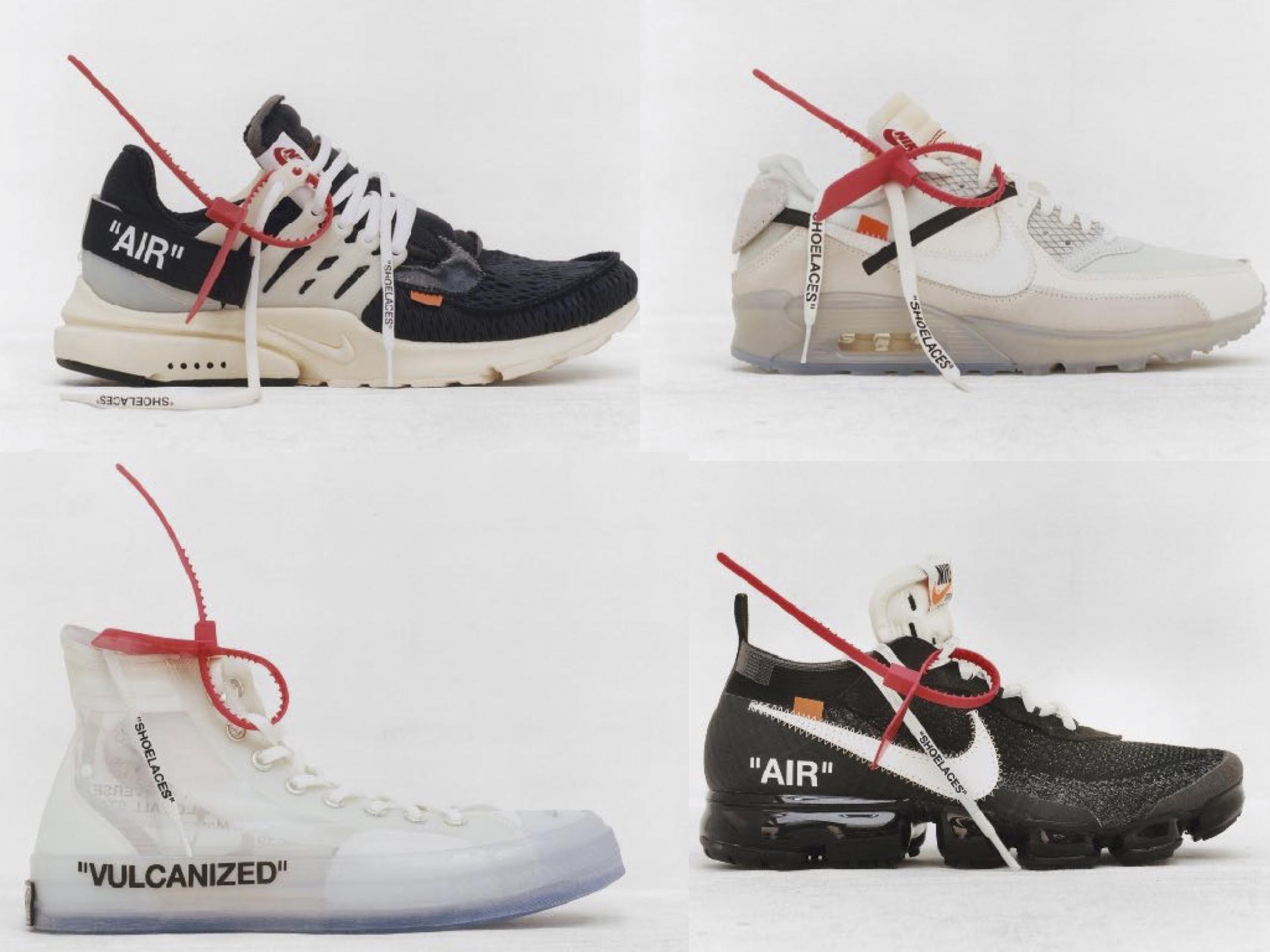 Virgil Abloh x Nike : Découvrez enfin les 10 modèles en photos officielles
