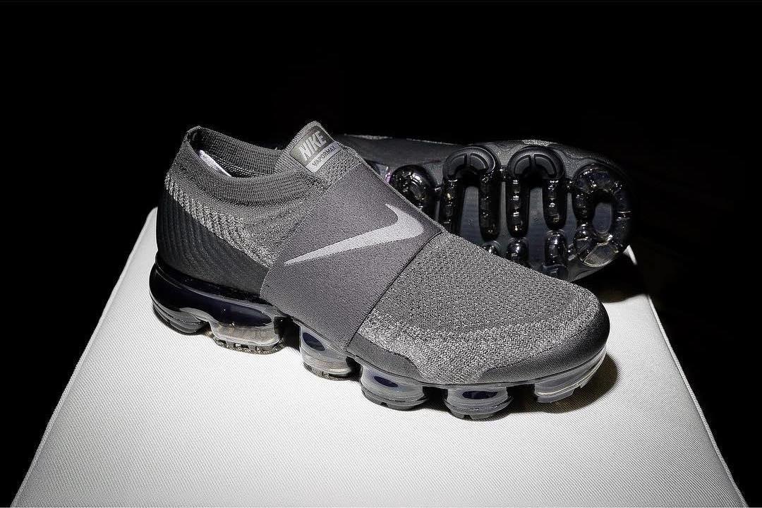 La Nike Air Vapormax laceless en grey & black