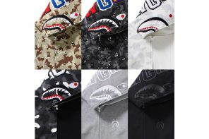 Bape sort six nouveaux coloris pour son Hoodie Shark