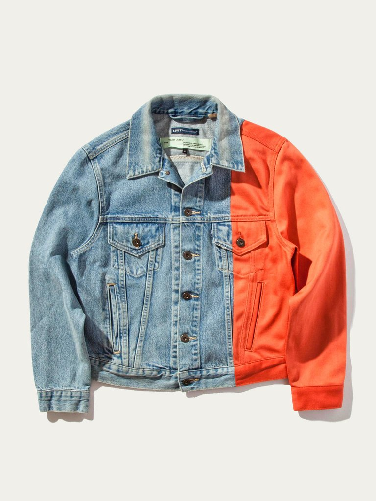 OFF WHITE x Levi's Made & Crafted s'unissent sur une veste en denim