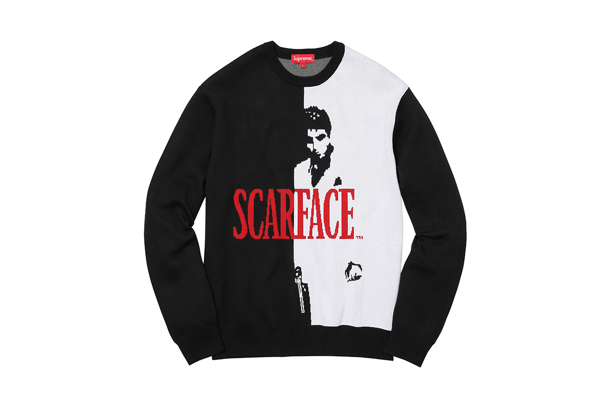 Les pièces de la collection Supreme Scarface sortent cette semaine