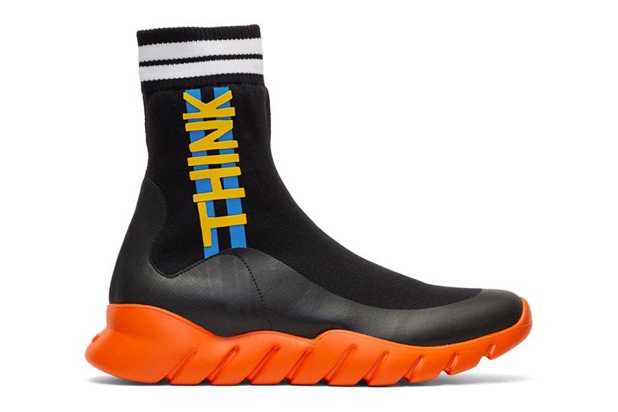 Fendi rejoint le club des sneakers à chaussettes avec les High Top Sock Trainer