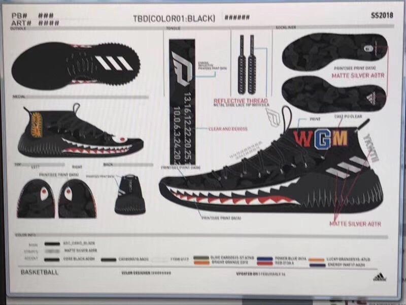 huge discount ff594 34ee9 ... bape-adidas-dame-4-green-camo. Sneakers