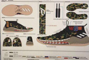 BAPE x adidas Dame 4 sont sur le point de sortir un camo Pack