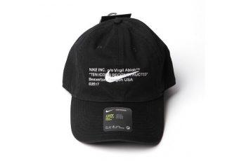 Le premier aperçu de la capsule casquette Virgil Abloh x Nike