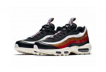 Les Nike Air Max 95 en quadricolor «Navy/White/Red/Brown»