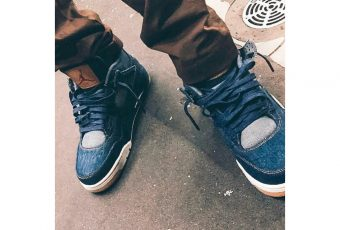 Travis Scott tease une Air Jordan 4 en denim avec Levi's
