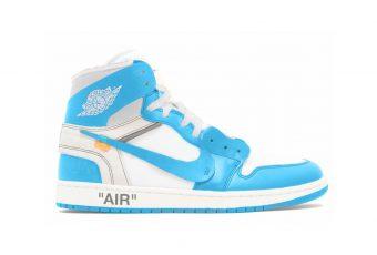 La sneaker Virgil Abloh x Nike Air Jordan 1 «University Blue» devrait sortir en 2018