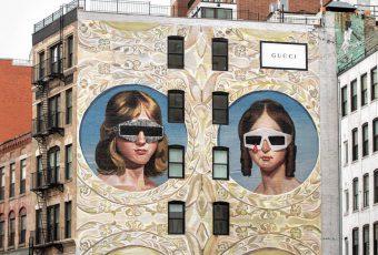 Gucci crée une pièce d'art sur les murs de New-York !