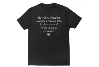 Chinatown Market lance un t-shirt contre le jour dédié au président des Etats-Unis !