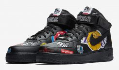 Premier visuel de la paire Supreme X Nike Air Force…