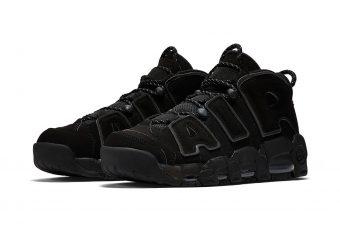 Les premiers visuels du modèle Nike Air More Uptempo « Triple Black » !