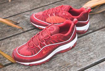 Découvrez la Nike Air Max 98 «Team Red» & «Habanero Red» !