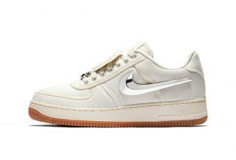 Découvrez les Nike Air Force 1 by Travis Scott dîtes «Sail»