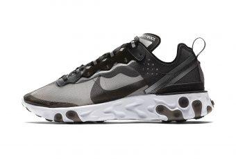 Le futur est en avance avec la Nike React Element 87 Anthracite