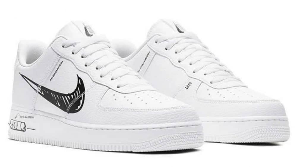 Preview: Nike Air Force 1 Low Sketch White Black Le Site